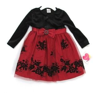 NWT Youngland Baby 24M 2 pc Set Holiday Dress Set